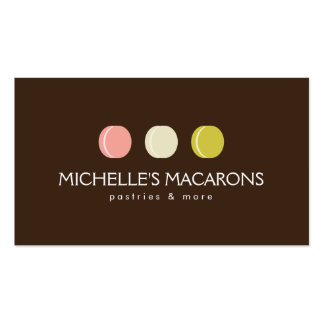 FRENCH MACARON TRIO LOGO 2 for Bakery, Pastry Chef Pack Of Standard Business Cards