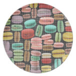 French Macarons Pop Art Party Plates
