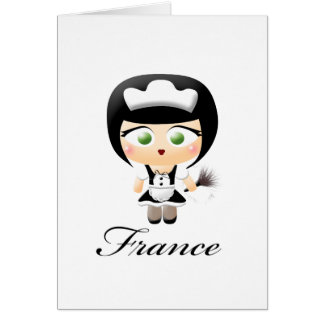 French Maid Greeting Card