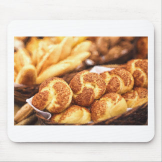 Fresh baked bread mouse pad