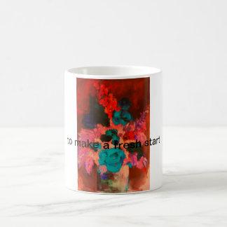 fresh flower basic white mug