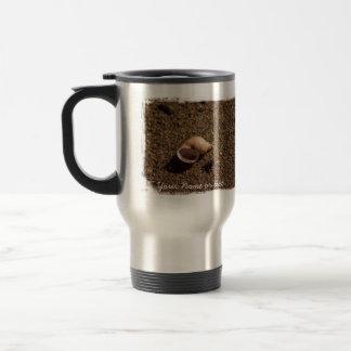 Freshwater Snail Shell; Customizable Stainless Steel Travel Mug