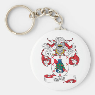 Frias Family Crest Basic Round Button Key Ring