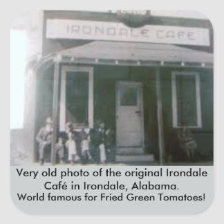Fried Green Tomatoes Original Irondale Cafe Square Sticker
