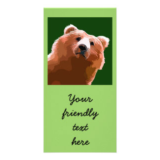 Friendly Bear. Photo Card Template