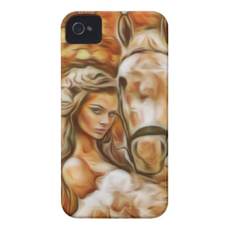 Friends Girl and Horse iPhone 4 Cover