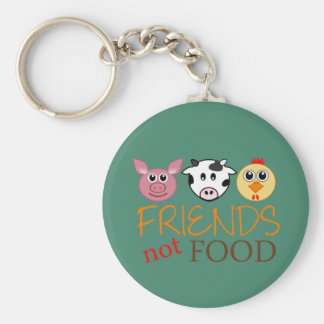Friends Not Food Basic Round Button Key Ring