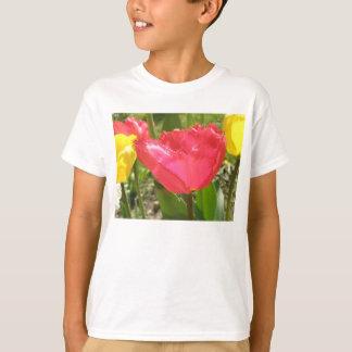 Fringed Tulips Kids T Shirt