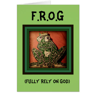 FROG - Fully Rely On God Greeting Card