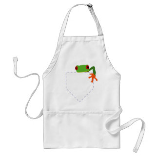 Frog in My Pocket Standard Apron