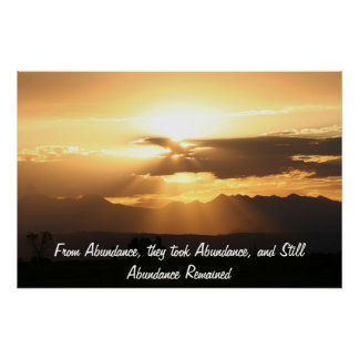 From Abundance, they took Abundance... Poster