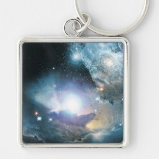 From the Ashes of the First Stars Silver-Colored Square Key Ring