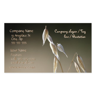 Fruiting Wild Oat business card template