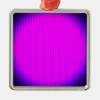 Fuchsia LED lamp Silver-Colored Square Decoration