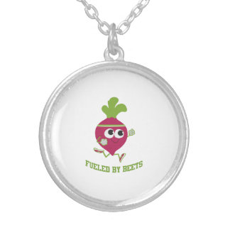 Fueled By Beets Round Pendant Necklace