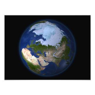 Full Earth showing the Arctic region Art Photo