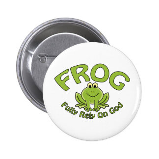 Fully Rely On God 6 Cm Round Badge