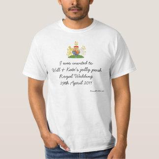 Fun British Royal Wedding souvenir top Tee Shirts