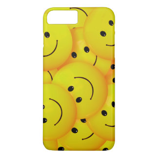 Fun Cool Happy Yellow Smiley Faces iPhone 7 Plus Case