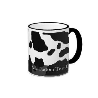 Fun Cow Print Personalized Ringer Mug