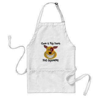 Fun Customizable Dog Grooming Business Standard Apron