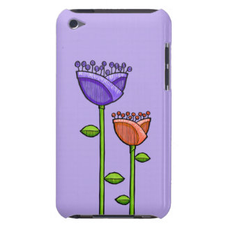 Fun Doodle Flowers purple orange iPod Touch iPod Touch Covers