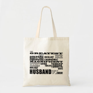 Fun Gifts for Husbands : Greatest Husband Budget Tote Bag