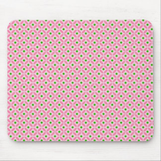 Fun Hot Pink Teal and Soft Pink Diamond Pattern Mouse Pad