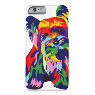 Fun Rainbow Yorkie Barely There iPhone 6 Case