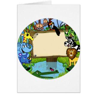 Fun with animals greeting card