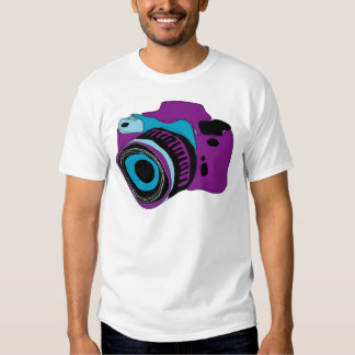 Funky camera graphic illustration t shirt