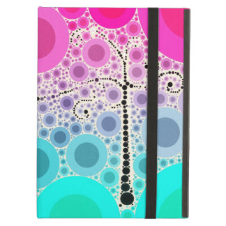 Funky Colorful Scroll Tree Circles Bubbles Pop Art iPad Air Cases