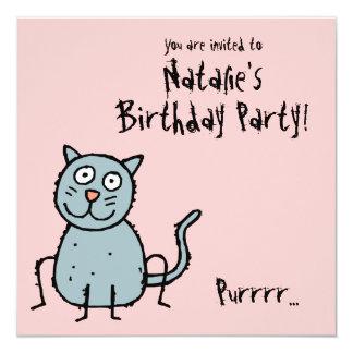 Funky Farm Cat (Birthday) Party Invitation Purr