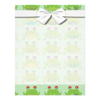 funky froggy frogs 21.5 cm x 28 cm flyer