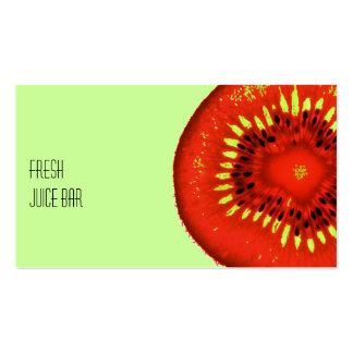 funky fruit fresh juice bar business card