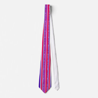 Funky Modern Stripes in Hot Pink and Purple Tie