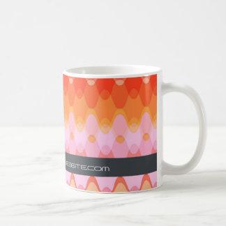 Funky Waves   03 * Modern Designer Custom Gift Mug