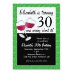Funny 30th Birthday Wine Party 13 Cm X 18 Cm Invitation Card