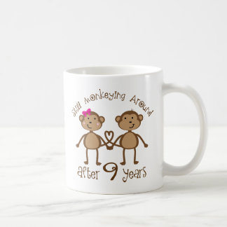 Funny 9th Wedding Anniversary Gifts Basic White Mug