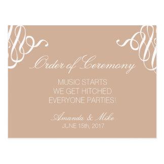 Funny and Simple Wedding Program Postcard