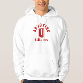 Funny Annoying You Men's Sweatshirt, Red Hooded Sweatshirts