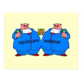 Funny anti Republican Postcard