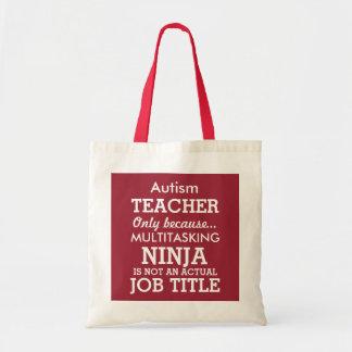 Funny Autism Special Needs Teacher Budget Tote Bag