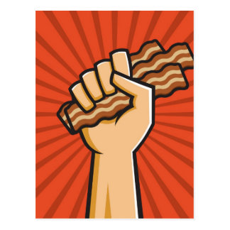Funny Bacon Lover Design Postcard