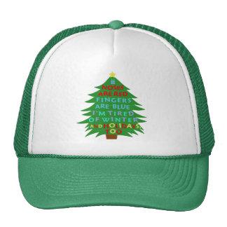 Funny Bah Humbug Christmas Poem Cap
