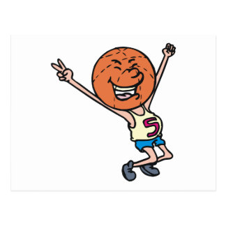 funny basketball fan mascot postcard