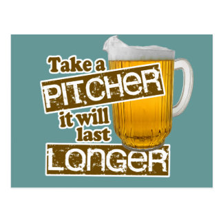 Funny Beer Drinking Parody Postcard