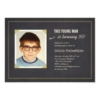 Funny Birthday Invitations with an Old Photo