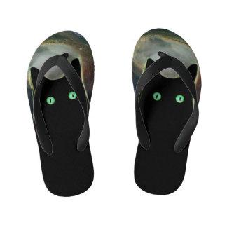 Funny Black Cat Fact Flip Flops