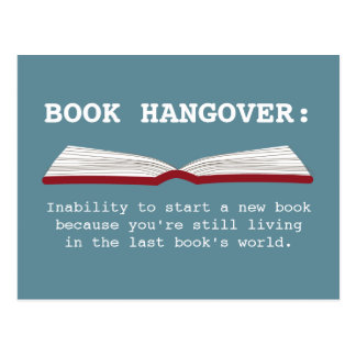 Funny Book Hangover Definition Book Lover Postcard
